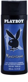 Playboy King Of The Game gel de dus pentru barbati 400 ml