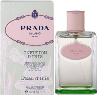 Prada Les Infusions Infusion d'Iris L'Eau d'Iris eau de toilette pour femme 100 ml edition limitée