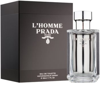 Prada L'Homme Eau de Toilette voor Mannen 50 ml