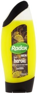 Radox Men Feel Heroic 2 in 1 gel de dus si sampon