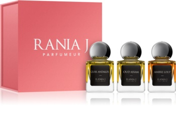 Rania J. Priveé Émeraude Collection set cadou IV. Cuir Andalou + Oud Assam + Ambre Loup