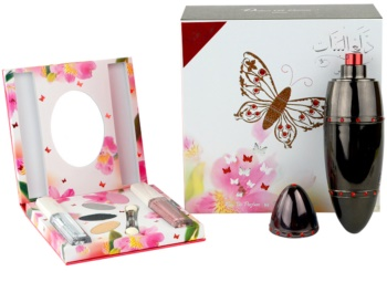 Rasasi Daala Al Banat Amani eau de parfum + sombra de ojos + delineador de ojos líquido + brillo de labios para mujer 50 ml