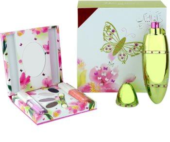 Rasasi Al Banat Bheja eau de parfum pour femme 50 ml + fards à paupières + eyeliner liquide + brillant à lèvres