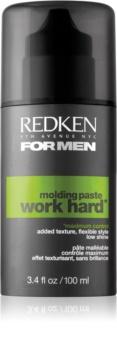 Redken Work Hard Modellierende Haarpaste starke Fixierung