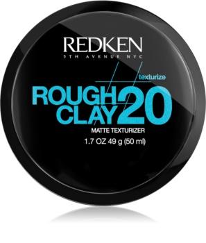 Redken Texturize Rough Clay 20 pasta matificante  para fixação flexível