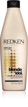 Redken Blonde Idol szampon bez sulfatów do włosów blond