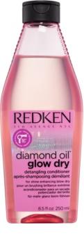 Redken Diamond Oil Glow Dry balsamo illuminante per capelli lucenti e pettinabili