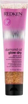 Redken Diamond Oil Glow Dry exfoliant pregătitor, înainte de spălarea părului