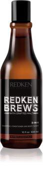Redken Brews 3 v 1 šampón, kondicionér a sprchový gél