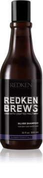 Redken Brews șampon fortifiant pentru păr alb și grizonat