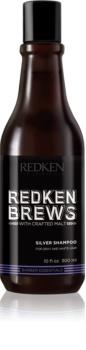 Redken Brews shampoing fortifiant pour cheveux blancs et gris
