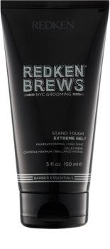 Redken Brews extra erős gél tartós és fényes frizuráért
