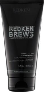 Redken Brews extra silný gel pro pevné, lesklé účesy