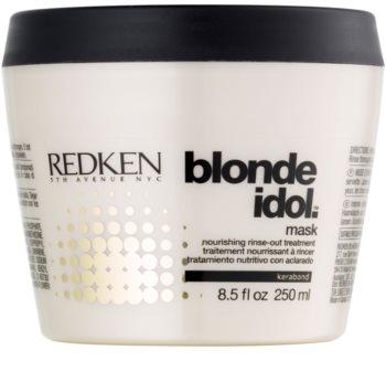 Redken Blonde Idol máscara nutritiva para cabelo loiro e grisalho