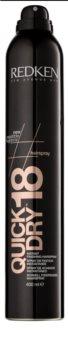Redken Quick Dry gyorsan száradó spray a hajformázáshoz ultra erős fixálás