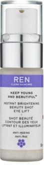 REN Keep Young And Beautiful™ rozjasňující oční gel s liftingovým efektem