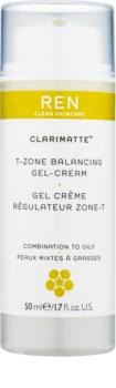 REN Clarimatte™ crema-gel hidratante textura ligera  de acabado mate