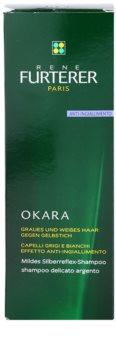 Rene Furterer Okara Protect Color champô suave prata neutraliza tons amarelados
