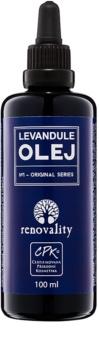 Renovality Original Series masážny telový olej z levandule
