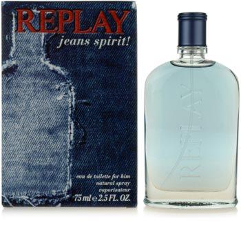 Replay Jeans Spirit! For Him eau de toilette pentru barbati 75 ml