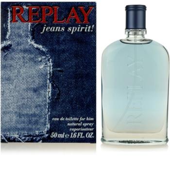 Replay Jeans Spirit! For Him eau de toilette pentru barbati 50 ml