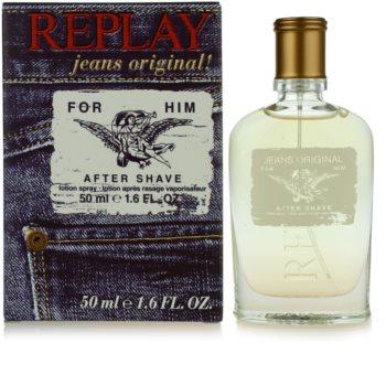 Replay Jeans Original! For Him voda po holení pro muže 50 ml