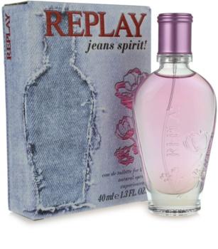 Replay Jeans Spirit! For Her Eau de Toilette Damen 40 ml