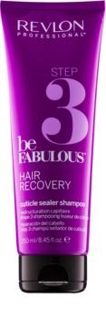 Revlon Professional Be Fabulous Hair Recovery shampoo sigillatore delle cuticole per preservare gli effetti della maschera rigenerante
