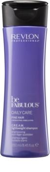 Revlon Professional Be Fabulous Daily Care tömegnövelő sampon a selymes hajért