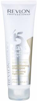 Revlon Professional Revlonissimo Color Care champô e condicionador 2em1 para cabelo branco e cinzento