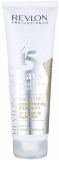 Revlon Professional Revlonissimo Color Care šampón a kondicionér 2 v 1 pre melírované a biele vlasy