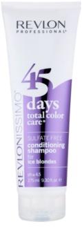 Revlon Professional Revlonissimo Color Care champô e condicionador 2 em 1 para tons loiros frios de cabelo