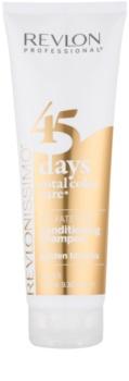 Revlon Professional Revlonissimo Color Care szampon i odżywka 2 w 1 dla średnich odcieni blond