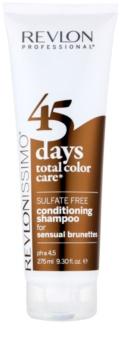 Revlon Professional Revlonissimo Color Care champô e condicionador 2 em 1 para tons castanhos de cabelo
