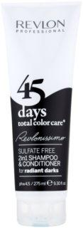 Revlon Professional Revlonissimo Color Care šampon a kondicionér 2 v 1 pro velmi tmavé a černé odstíny vlasů