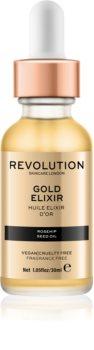 Revolution Skincare Gold Elixir élixir visage à l'huile de rosier des chiens