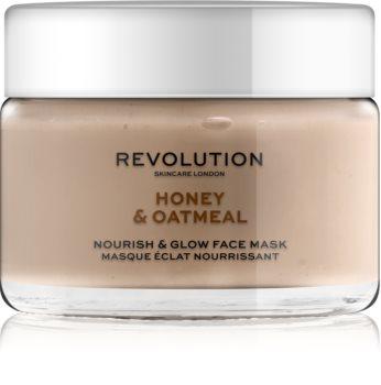 Revolution Skincare Honey & Oatmeal posvjetljujuća maska za lice