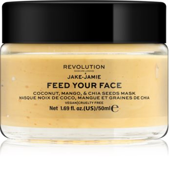 Revolution Skincare Jake-Jamie Coconut, Mango & Chia Seed Mask maschera illuminante viso