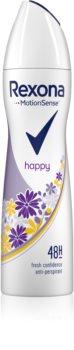 Rexona Fragrance Happy antiperspirant ve spreji