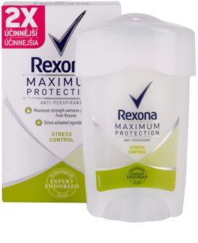 Rexona Maximum Protection Stress Control antitranspirante en crema 48h