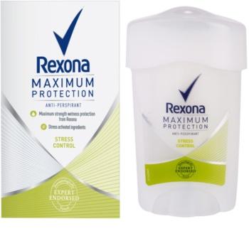 Rexona Maximum Protection Stress Control кремовий антиперспірант 48 годин
