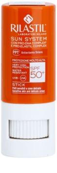 Rilastil Sun System zaščitni balzam za ustnice in občutljive predele SPF 50+