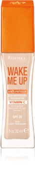 Rimmel Wake Me Up base de maquillaje líquida con efecto iluminador SPF 20