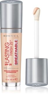 Rimmel Lasting Finish 25H Breathable fond de ten lichid  SPF 20