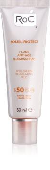 RoC Soleil Protect zaštitni posvjetljujući fluid protiv starenja kože lica SPF 50