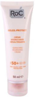RoC Soleil Protect зволожуючий крем для засмаги SPF 50+