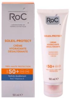 RoC Soleil Protexion+ Hydraterende Crèmevoor Zonnen  SPF 50+
