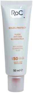 RoC Soleil Protect védő és élénkítő fluid a bőr öregedése ellen SPF 50