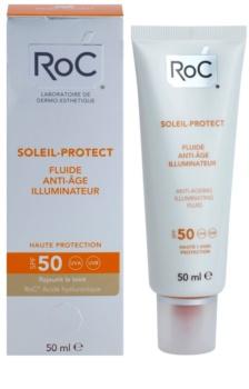RoC Soleil Protect ochranný rozjaňující fluid proti stárnutí pleti SPF 50