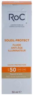 RoC Soleil Protect ochranný rozjasňujúci fluid proti starnutiu pleti SPF 50